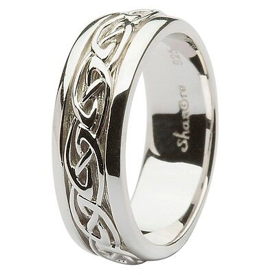 Shanore Sterling Silver Celtic Knot Wedding Ring Various Sizes  9.5, 10.5 or 13