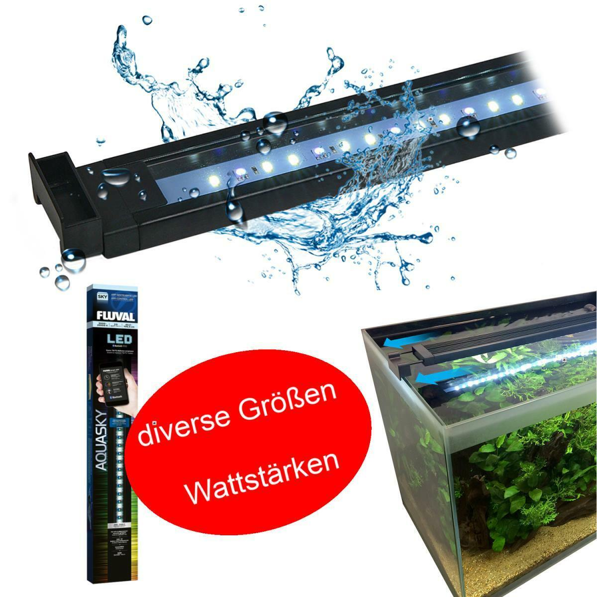 Fluval AquaSky LED Aquariumbeleuchtung FluvalSmart App Technologie in 7 Größen