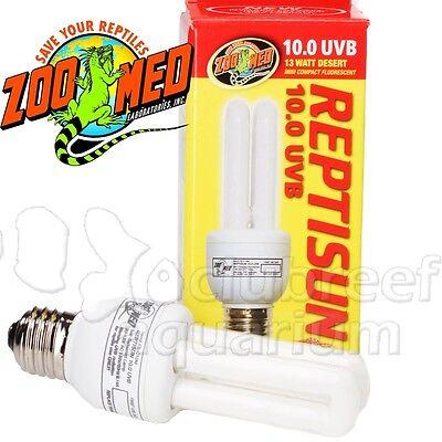13 Watt Reptisun 10.0 UVB 10 Fluorescent Desert Reptile Terrarium Bulb Zoo Med