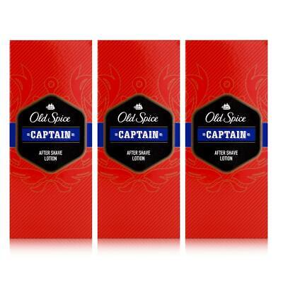 Old Spice After Shave Lotion Captain 100ml - Beruhigt und erfrischt (3er Pack)
