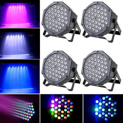 4PCS 36W RGB 36x LED Par Stage Lighting DMX DJ Disco Party Laser Projector Light