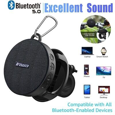New Portable Wireless Bluetooth Speaker With Detachable Bicycle Mount Waterproof ()