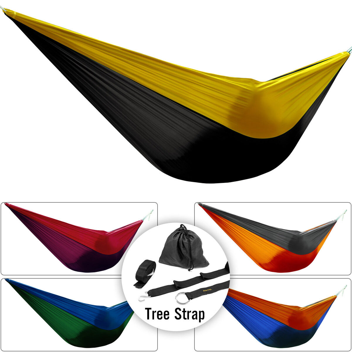 Hammock Person Portable Parachute Nylon Fabric Swing Bed