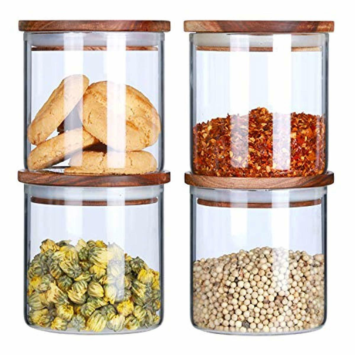 Glass Canisters Set For The Kitchen Glass Storage Jars With
