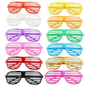 d558aee5c74 12 Pairs Shutter Shades Glasses Sunglasses Party Photo Props Plastic UK  SUPPLER