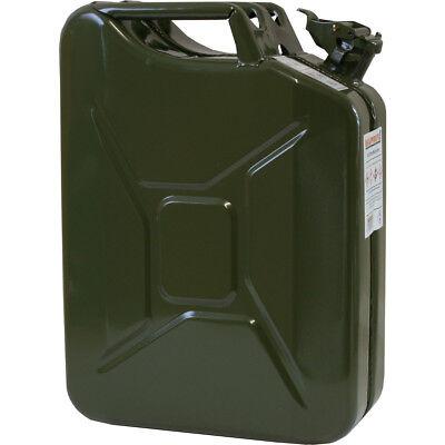 Benzinkanister Metall 20 L NEU StahlblechKanister Armeekanister GRÜN 20 Liter