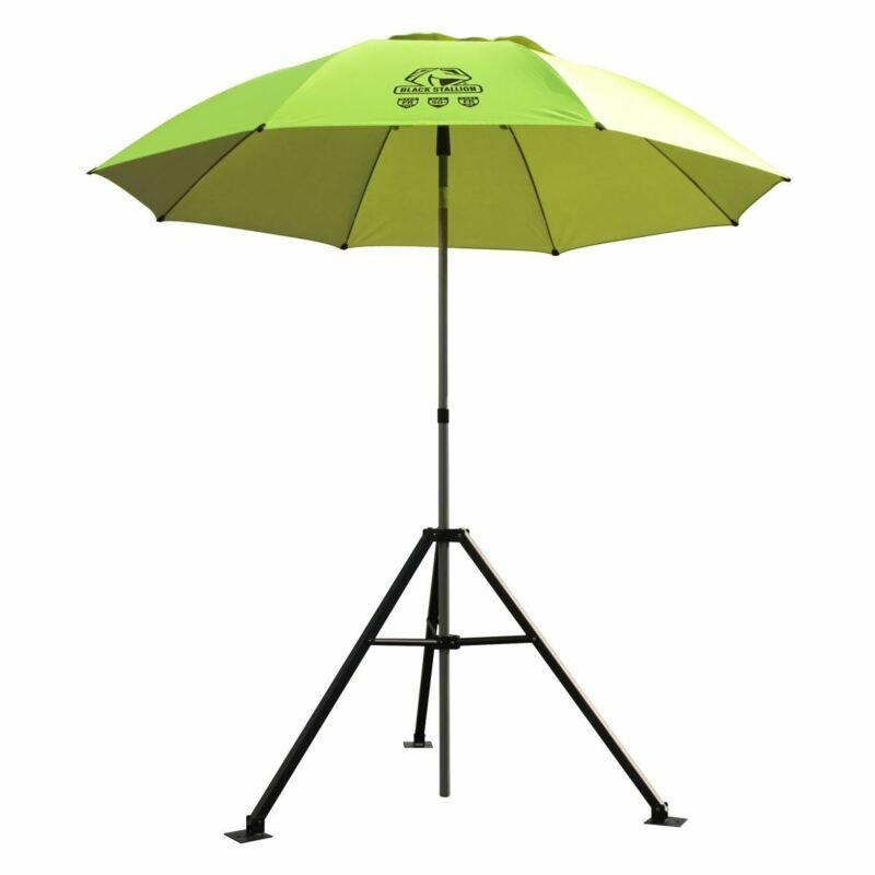 Revco Black Stallion UB250-YEL Core Flame-Resistant Industrial Umbrella & Stand,