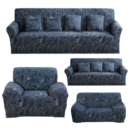 Blue Leaf Slipcover Couch Cover For Sectional Corner L shape