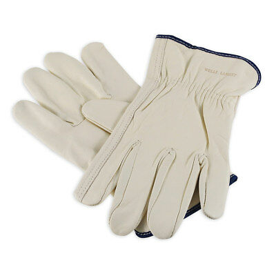 Mens Cowhide Leather Work Gloves By Wells Lamont - Y0131 - L