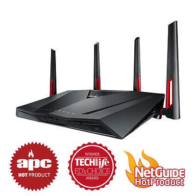 ASUS RT-AC88U Dual-band Wireless AC3100 8x Gigabit Ports Gaming Router NBN Ready