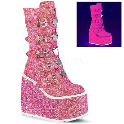 Pink Glitter Boots (Demonia 5.5