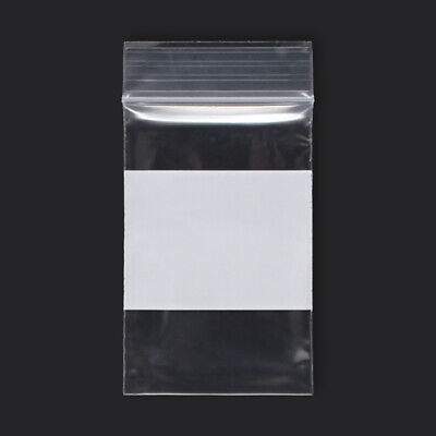 1000 Qty 2 X 3 Reclosable Clear Plastic Zipper Bags With White Block 2 Mil