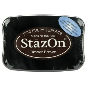StazOn TIMBER BROWN Solvent Craft Ink Pad Full Size SZ-41