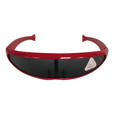 Futuristic Costumes For Men (Red Robot Style Wrap Around Sunglasses  Cyclops Costume X-Men Robocop)