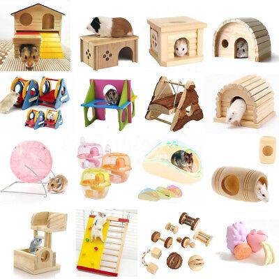 Esercizio legno gabbia gioco giocattolo per criceto Ratto PICCOLA Hamster Toy