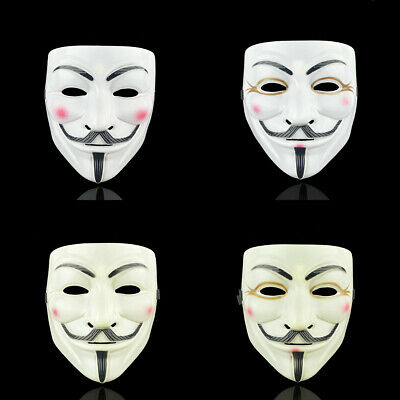 Anonymous Hacker V For Vendetta Guy Halloween Fancy Dress Party Face Mask