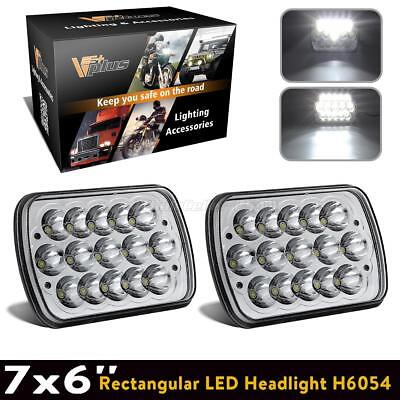 "1 Pair 7x6"" CREE Led Bulbs Sealed Beam Hi/Lo Headlight Headlamp Assembly FOR GMC"