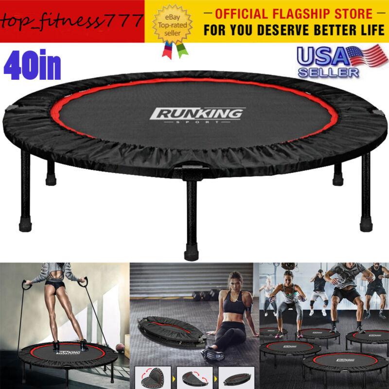40in Mini Exercise Trampoline for Adults Kids Foldable Indoo