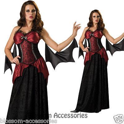 Ladies Vampiress Vampire Dracula Scary Halloween Women Fancy Dress Adult Costume