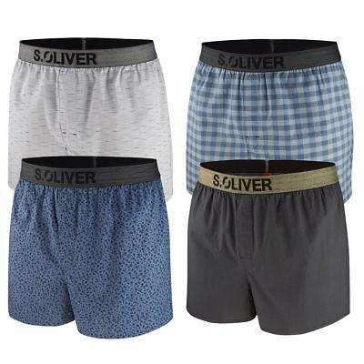s.Oliver Herren Boxershorts, 2er Pack Web Boxer Boxershorts klassisch bequem Neu - Klassische Baumwolle Boxer