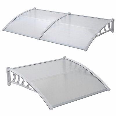 SVITA Vordach Überdachung transparent robust Haustür Dach Pultdach Türdach weiß