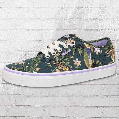 Vans Damen Sneaker Atwood Floral blau bunt Frauen Schuhe Sommerschuhe Ladies Blaue Vans Frauen