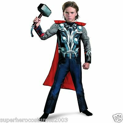 The Avengers Thor Child Muscle Costume INCLUDES HAMMER! Size Small 4-6 NWT 43656 (Thor Kids Hammer)