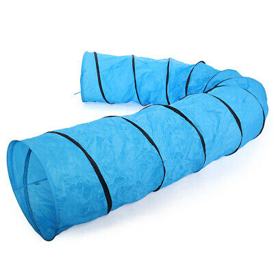 Blue Oxford Cloth Dog Agility Equipment Training Outdoor Tunnel Pet Exercise Run