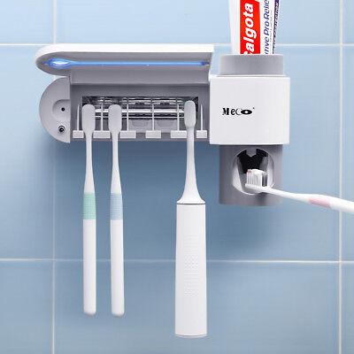 Automatische Sterilisator (MECO 5 Set UV Sterilisator Zahnbürste Halter Reiniger + automatische Zahnpasta)