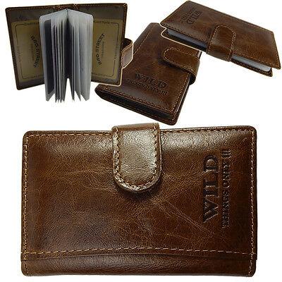 Visitenkartenetui  Kreditkartenhülle Herren Damen Leder Etui  a1163  Braun
