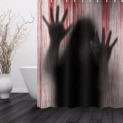 Halloween Duschvorhang 3D Gedruckt Blutige Handabdruck Badezimmer Vorhang