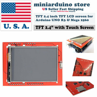 2.4 Tft Lcd Display Shield Id 0x9341 Touch Panel Screen Arduino Uno Mega Sd Card