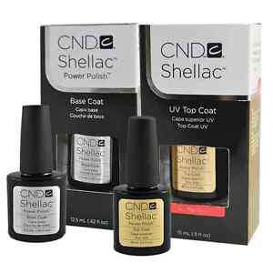 CND Shellac UV Top Coat  0.5oz big size Base Coat 0.47oz big size  Duo Pack