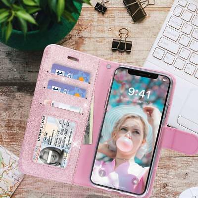 [Valentine Gift] Girly Shining Flip Wallet Case For iPhone XS MAX XR X 8 7 Plus](Girly Gifts)