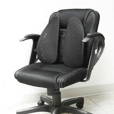Black Ergonomic Adjustable Cushion Pad Back Lumbar Support Fit Home Office Chair