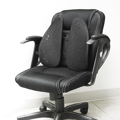 Black Ergonomic Adjustable Cushion Pad Back Lumbar Support For Home Office Chair