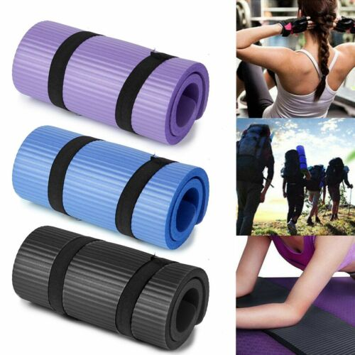 Yoga Mat Thick Non-slip Durable Exercise Extra Mats Pilates