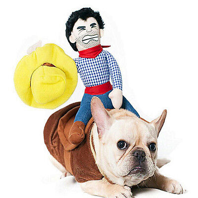 Cat And Dog Costume (Cowboy Rider Dog Costume, Knight Style with Doll and Hat for Dog and Cat)