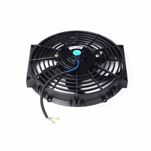 4 Inch 12 Volt Fan : Quot inch universal slim fan push pull electric radiator