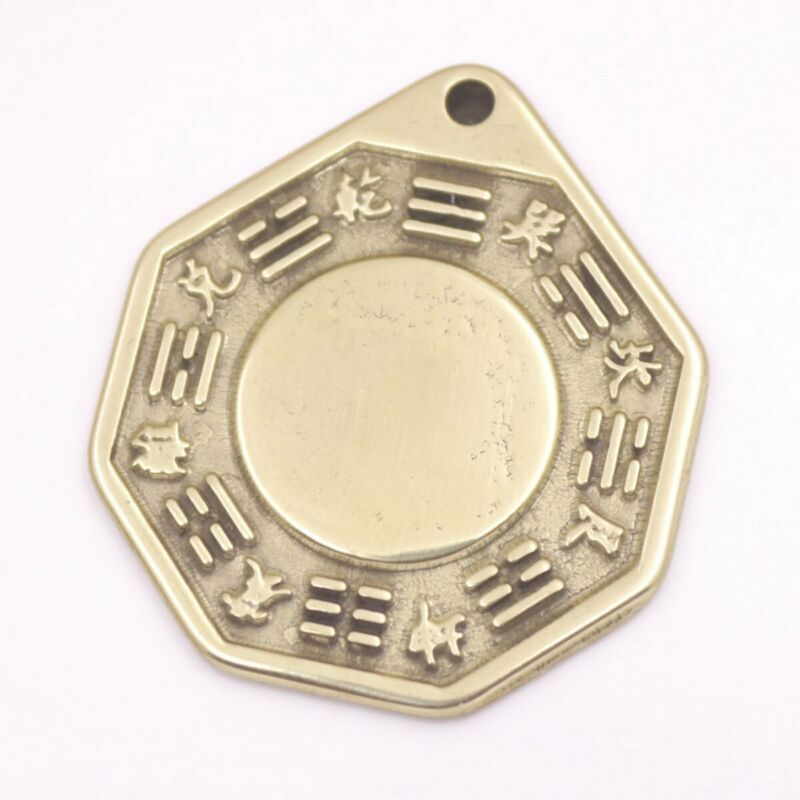 30mmx35mm Golden Brass Feng Shui Baguas Mirror Good Lucky