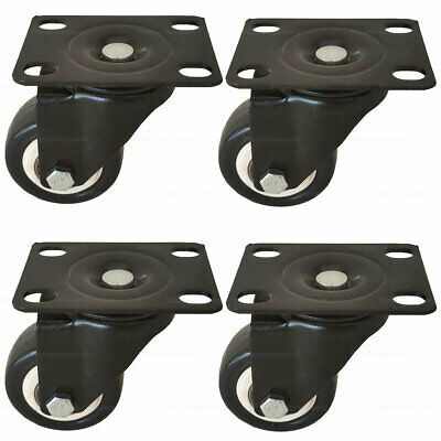 4 Pack 2 Swivel Rubber Caster Wheels With Top Plate Bearing Heavy Duty 600lb