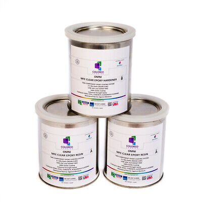 Clear Epoxy Resin Coating For Wood Tabletopconcretegarage Floors. 3 Quart Kit
