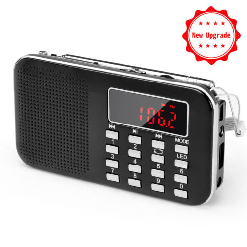PRUNUS Mini Portable Ultrathin AM / FM MP3 Radio.Stores stations automatically.