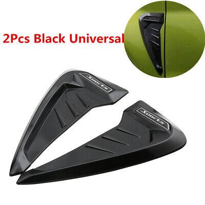 Universal Side Blade Wing Car Grilles Vent Trim Front Fender Shark Gills Sticker