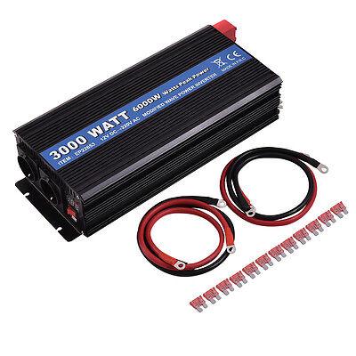 Spannungswandler 3000 6000W Inverter Welchselrichter 12V auf 220V LED Anzeige