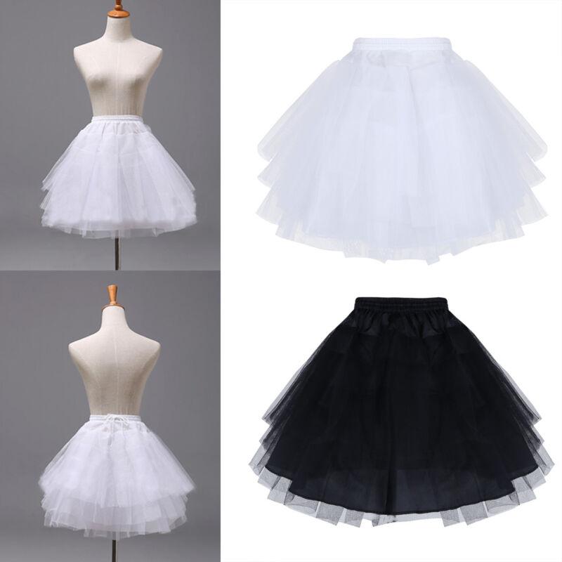 Age 4-15 Flower Girl 1-Hoop A-Line Crinoline Petticoat Underskirt Children Kids