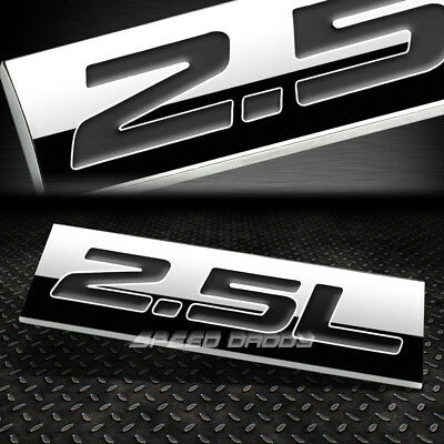 METAL EMBLEM CAR BUMPER TRUNK FENDER DECAL LOGO BADGE CHROME BLACK 2.5L 2.5 L