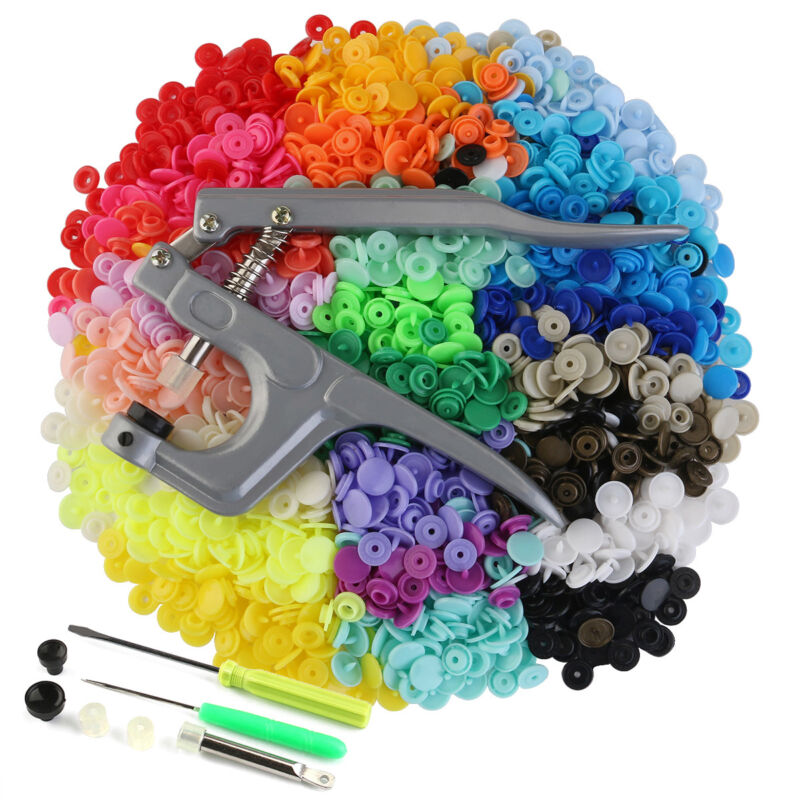 360 Sets T5 Plastic Buttons for Sewing and Crafting Snap Fastener kit