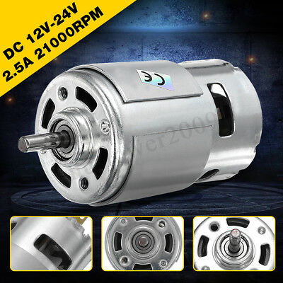 12v-24v Dc 10000rpm15000rpm 775 Motor Ball Bearing High Power Large Torque
