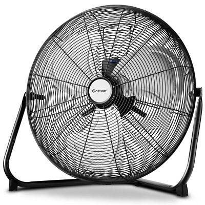 """Costway 20"""" High Velocity Fan Commercial Industrial Grade 3-Speed Floor Fan 360°"""